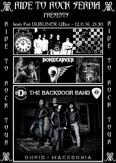 IL-plakatRTR Bonecarver u Užicu na promociji Ride to Rock