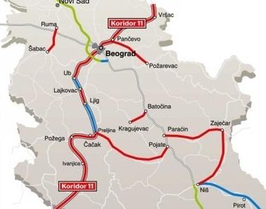 koridor 11 trasa mapa Otvaranja trase autoputa Ljig – Preljina – Info LIGA koridor 11 trasa mapa