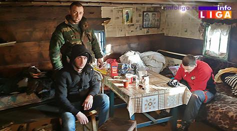 IL-Saponjic-i-Lugonjic-kada-su-stigli-kod-njih-u-kolibu Spašeni zavejani radnici na Goliji