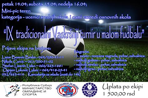 plakat-devetii-turnir Mladi postavljaju putokaze, sređuju dom, organizuju fudbalski turnir