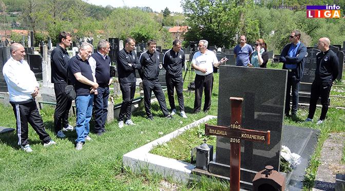 Delegacija Partizana posetila grob Vladice Kovačevića