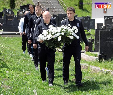IL-delegacija-Partizana-na-grobu-Vladice-Kovacevica2 Delegacija Partizana posetila grob Vladice Kovačevića