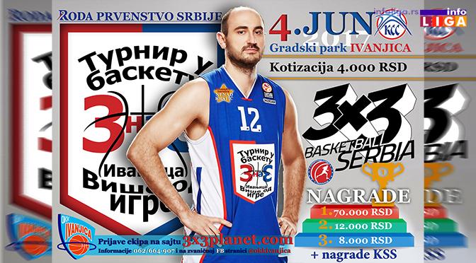 """""""Roda"""" prvenstvo Srbije u basketu 3X3 u Ivanjici"""