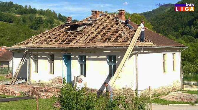 Prepokrivanje stare škole u Osonici