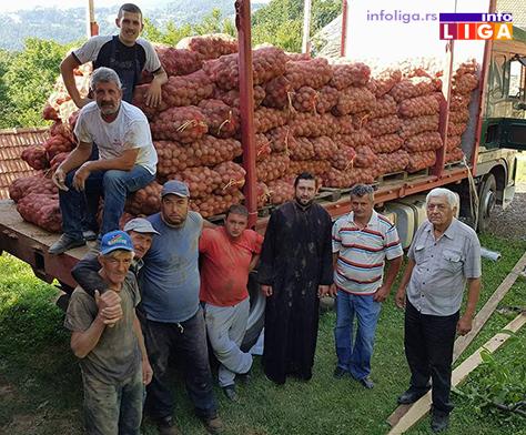 IL-krompir-humanitarka Dobri ljudi velikog srca donirali vagon krompira za gladne