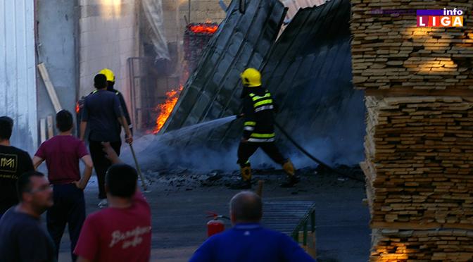 Požar na Grabovici u objektima za obradu drveta