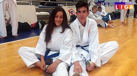 IL-karate-dva-angelina Za takmičare karate kluba Javor sedam medalja