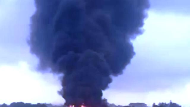 Crni dim nad kombinatom u Guči