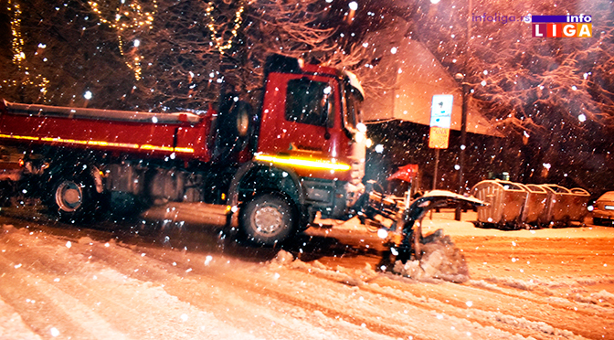 Otežano kretanje vozila u višim predelima Ivanjice