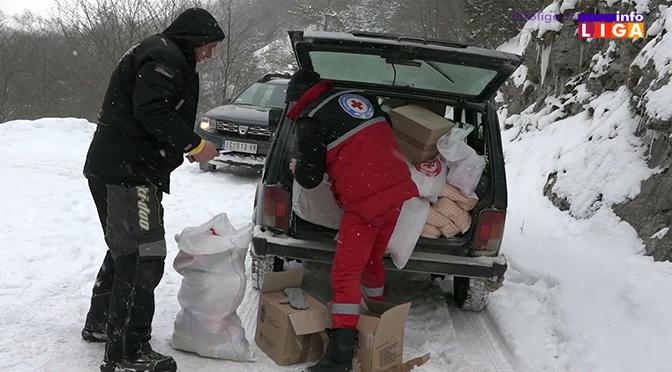 Pomoć stigla do udaljenih i zavejanih domaćinstava u ivanjičkoj opštini (VIDEO)