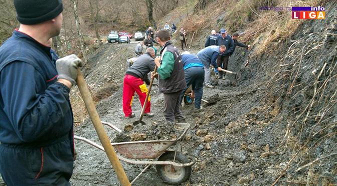 Odronjen put Lučka reka – Lug građani očistili krampovima i lopatama (VIDEO)