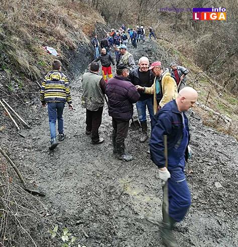 IL-lucka-reka-put2 Odronjen put Lučka reka – Lug građani očistili krampovima i lopatama (VIDEO)
