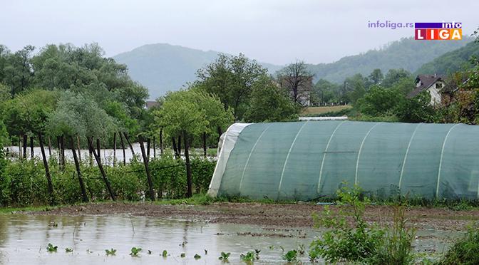 IL-poplave-lucani Izlila se Bjelica na 150 hektara poljoljoprivrednog zemljišta