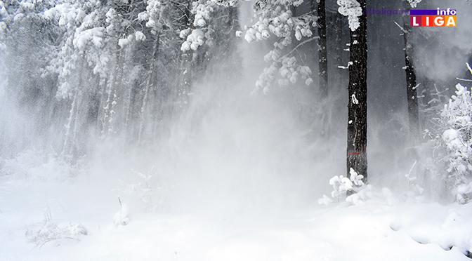Sneg u višim predelima i do 20 centimetara