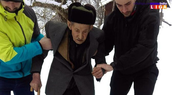 Ivanjički tim za vanredne situacije zbrinuo bolesnog starca sa Golije
