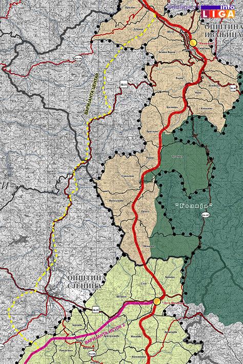 IL-Pregledna_mapa-autoput-varijanta-centar Hoće li se menjati trasa autoputa preko Ivanjice?