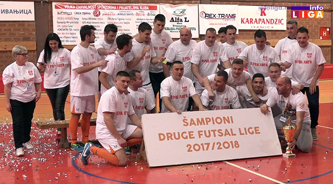 KMF Ivanjica šampioni II futsal lige Srbije (VIDEO)