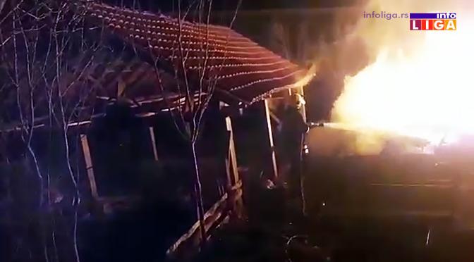 Požar – Izgorela kuća i pomoćni objekat (VIDEO)