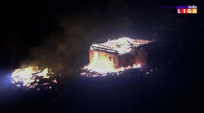 IL-pozar-kuca-bratljevo Požar - Izgorela kuća i pomoćni objekat (VIDEO)
