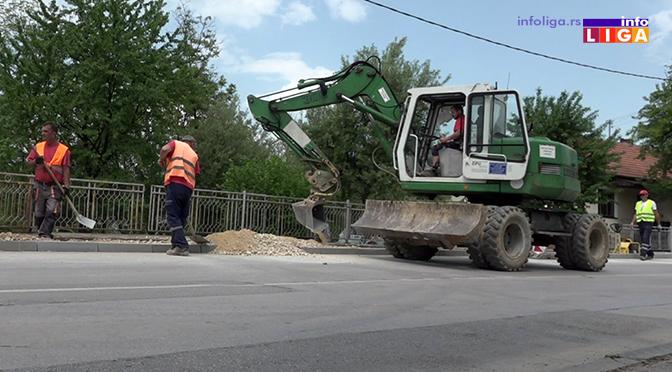 Rekonstrukcija trotoara (VIDEO)