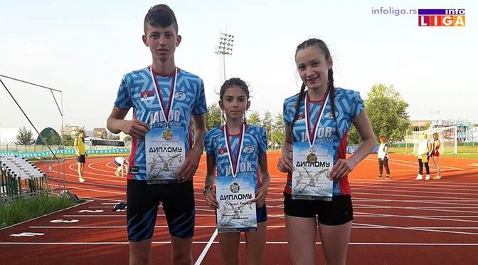 Dva zlata i srebro za ivanjičke atletičare