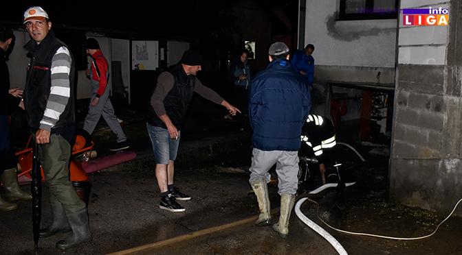 Nevreme -poplaviljeni objekti i ulice u Ivanjici (VIDEO)