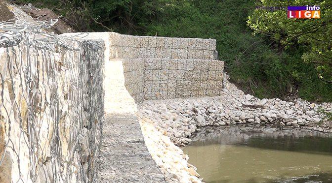 Završeno uređenje obale reke pored gradskog groblja (VIDEO)
