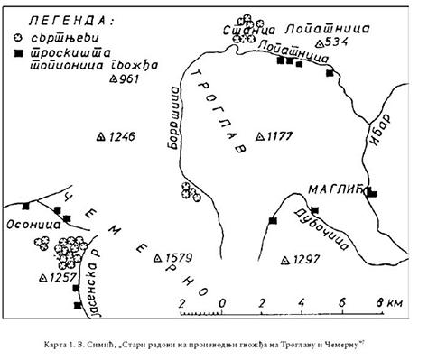 IL-osonica-rudnik-karta2 U Osonici u srednjem veku vađena ruda srebra i olova