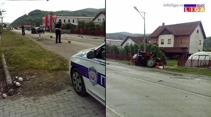 Sudar traktora i putničkiog vozila – Ima povređenih