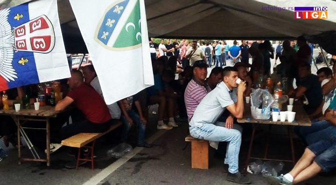 Protest privremeno prekinut, malina 130 dinara!