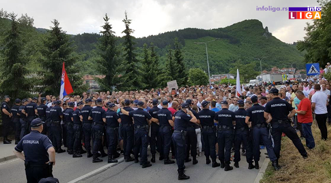 Malinari u Prijepolju na protestu i tokom noći
