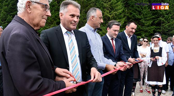 Selaković otvorio put koji spaja opštine Ivanjica i Nova Varoš (VIDEO)