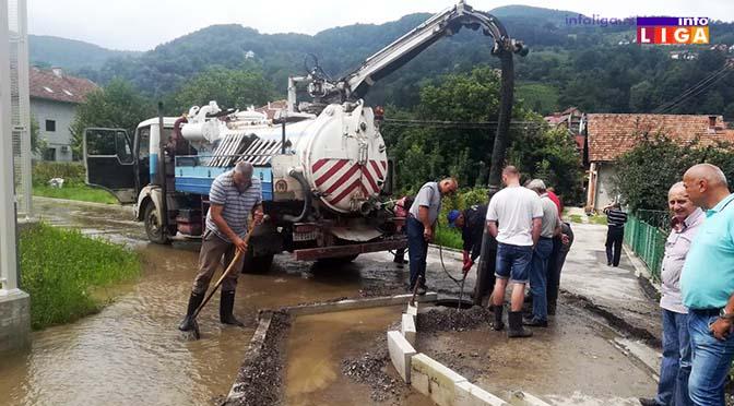 IL-polava-crnjevo Poplavljena ulica kod škole u Crnjevu (VIDEO)