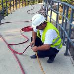 Počelo rušenje mosta na Naperu – servisne staze na reci Moravici (VIDEO)