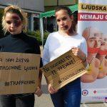 """Volonteri Crvenog krsta Ivanjica obeležili """"Evropski dan borbe protiv trgovine ljudima"""""""