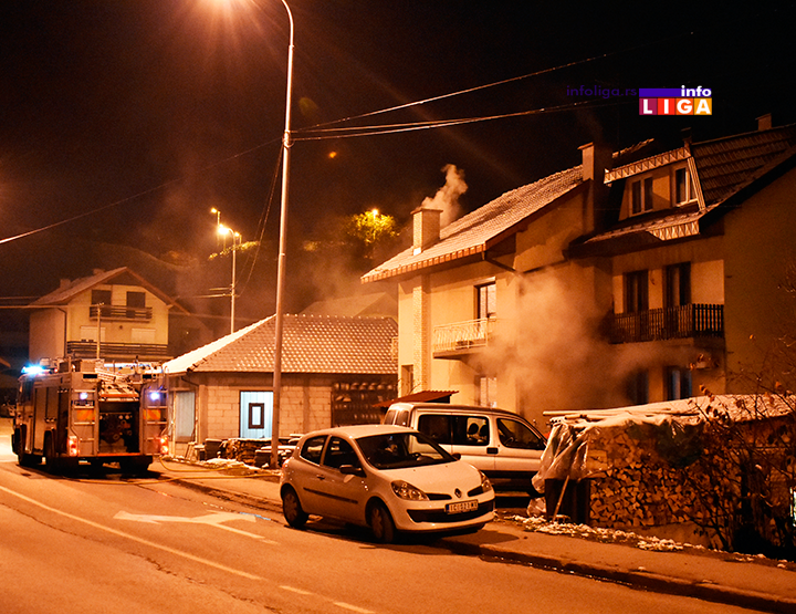 IL-pozar-kusican Vatrogasci sprečili da plamen zahvati kuću (VIDEO)