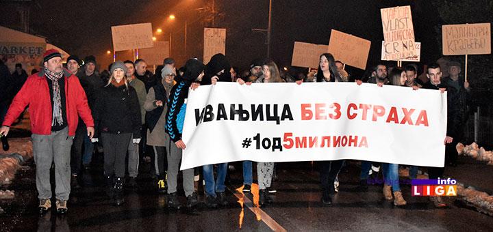 IL-1protest1od5miliona Prvi protest 1 od 5 miliona u Ivanjici (VIDEO)