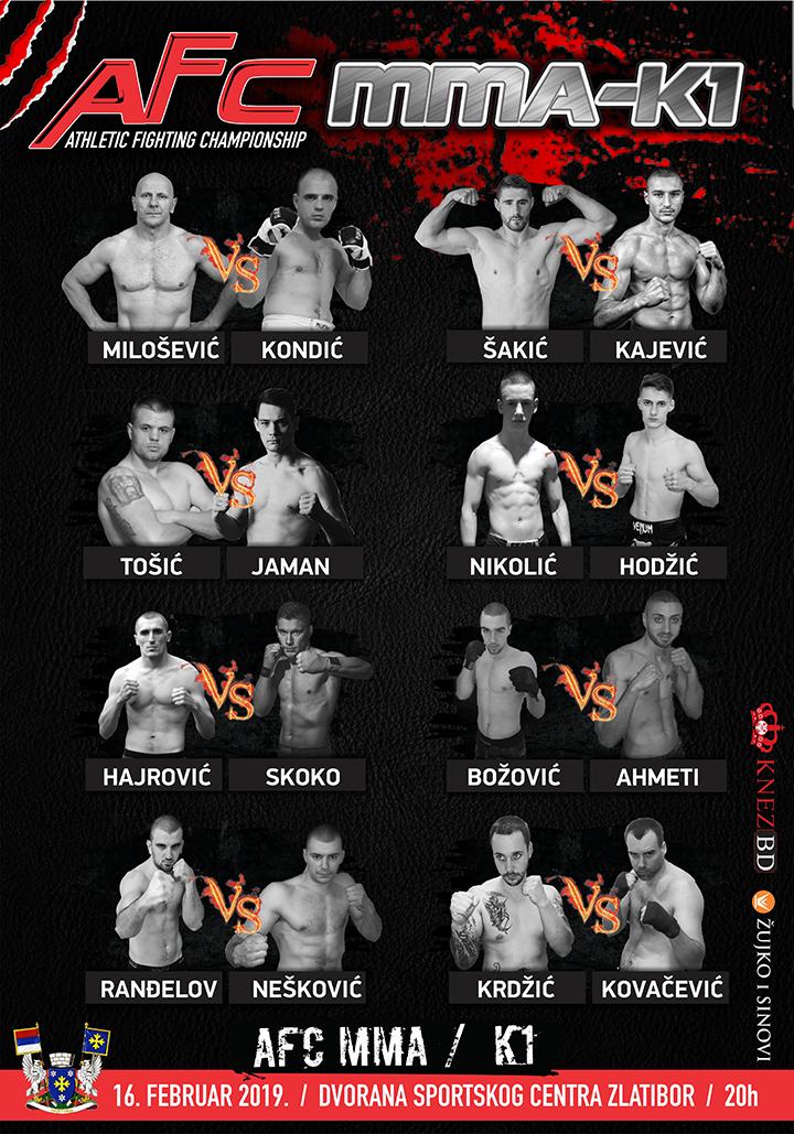 IL-MMA-Zlatibor-plakat Spektakl na Zlatiboru - MMA kik boks–K1 turnir u oktagonu