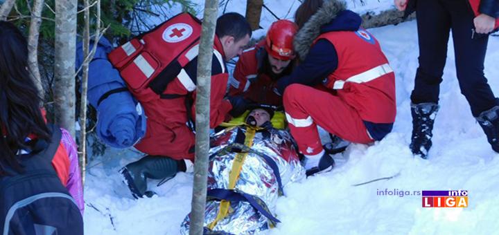 IL-trning-tim-zvsck3 ''Volonteri Crvenog krsta uspešno evakuisali devojku sa nepristupačnog šumskog terena''