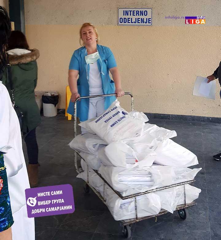 IL-vibergrupa-posteljine-cacak2 Dobri Samarjani donirali posteljinu čačanskoj bolnici