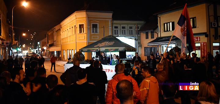 """IL-4protest1od5milona-ana2 Održan četvrti građanski protest """"#1od5miliona"""" u Ivanjici"""