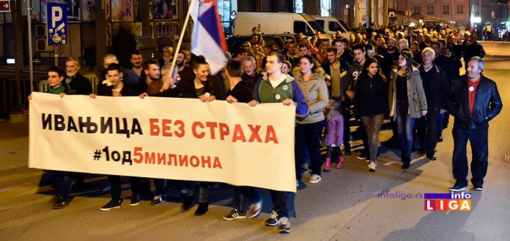 """IL-4protest1od5milona-setnja Održan četvrti građanski protest """"#1od5miliona"""" u Ivanjici"""