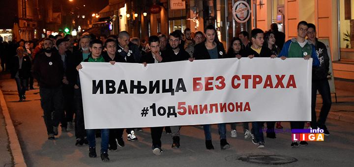 """IL-4protest1od5milona-setnja2 Održan četvrti građanski protest """"#1od5miliona"""" u Ivanjici"""