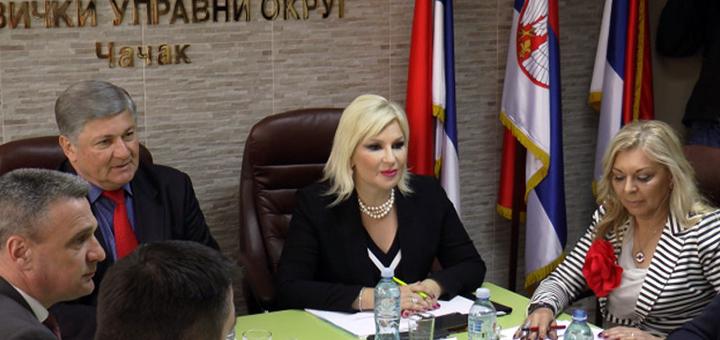 IL-jolovic-mihajlovic2 Zorana Mihailović i Slobodan Jolović definisali prioritete za Moravički okrug