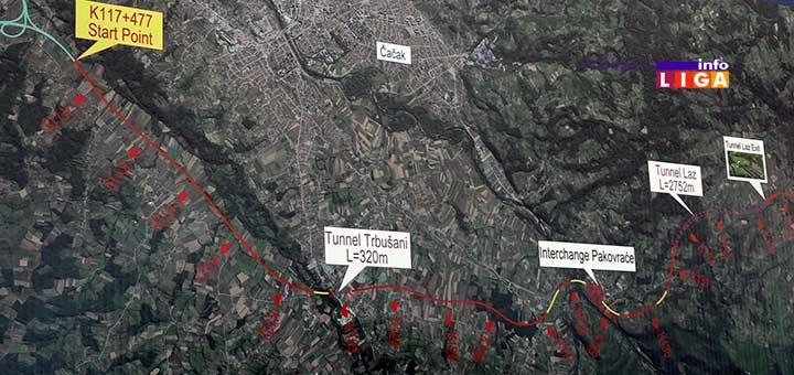 IL-mapa1 Vučić otvorio radove na deonici autoputa Preljina-Požega (VIDEO)