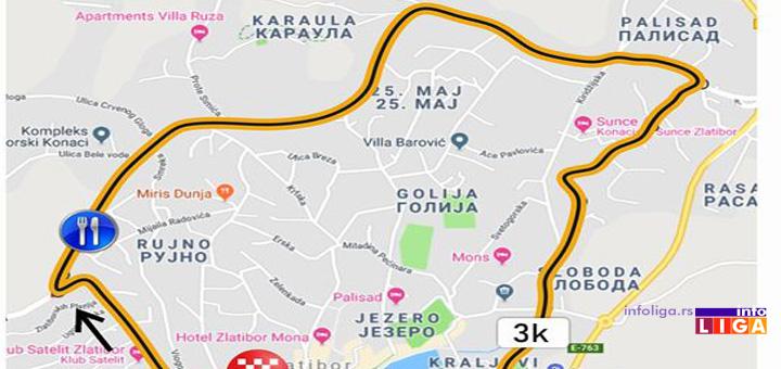 Biciklistička trka kroz Srbiju na Zlatiboru