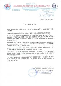 Scan-saopštenje-direktora-1-212x300 Direktor Namenske Radoš Milovanović zamolio radnike da ne dolaze u Ivanjicu