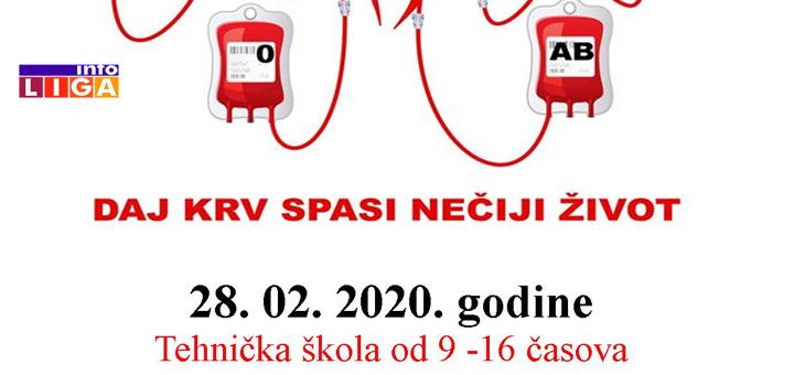 Il-Akcija-krv U petak akcija dobrovolnog davalaštva krvi u Ivanjici - svakom davaocu poklon