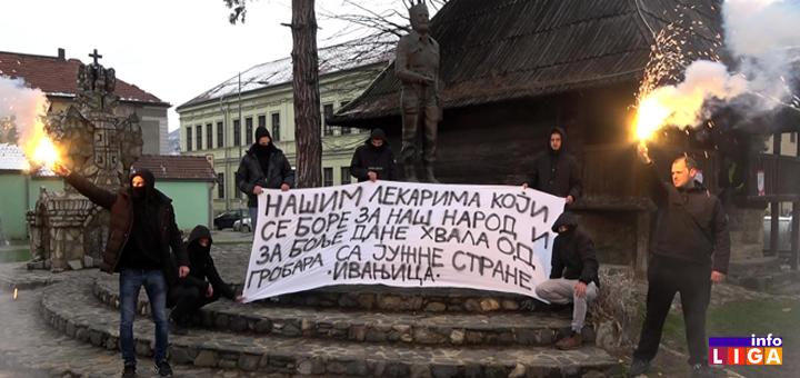 Il-Grobari-Ivanjica-podrška-medicinarima- Navijači Partizana iz Ivanjice poslali emotivnu poruku podrške lekarima (VIDEO)