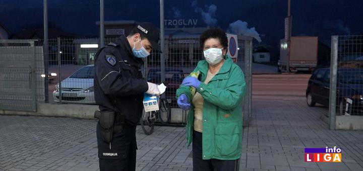 IL-MUP-maske-doniranje- Ivanjica - Penzioneri disciplinovano u kupovinu (VIDEO)